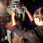 Body painting de Milo da Kamm en el stand de Naturalness Sabadell en la 1a Fashion night de Opera Garden