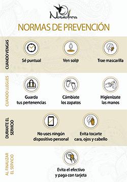 Protocolo seguridad frente al Covid19 en Naturalness Sabadell